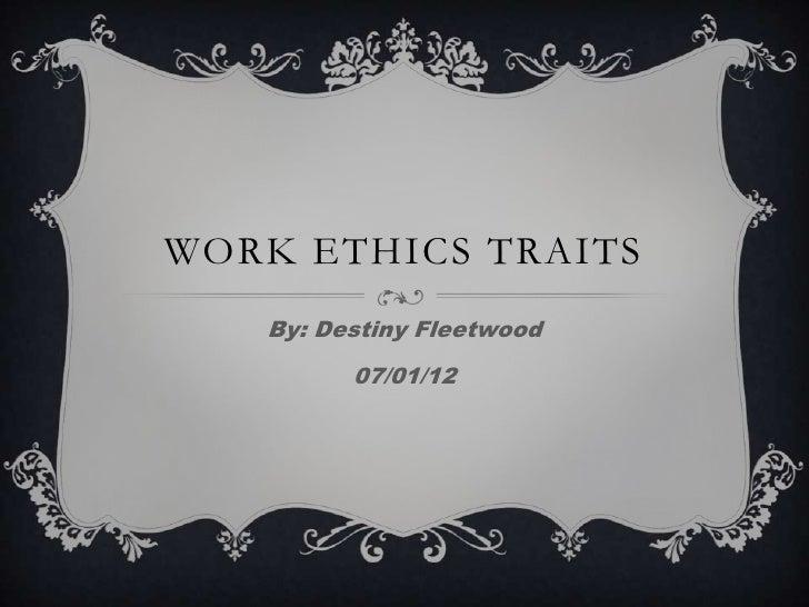Work ethics traits