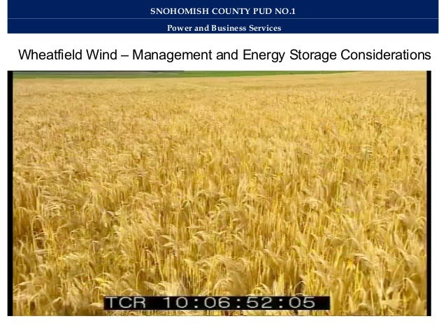 Work example: wind energy and storage 2012