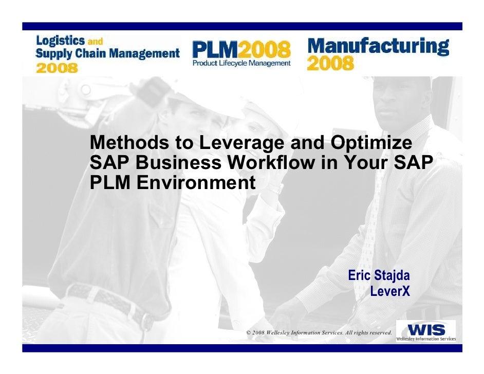 Methods To Leverage SAP Workflow