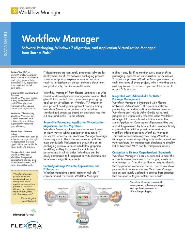 Workflow Manager Datasheet