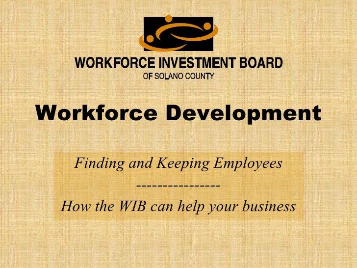 Workforce Development Ppt