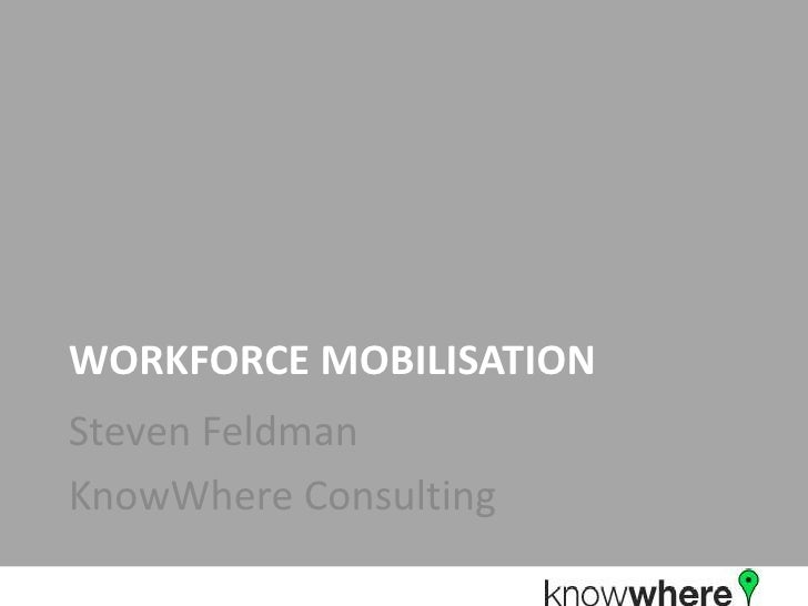 Workforce Mobilisation<br />Steven Feldman<br />KnowWhere Consulting<br />