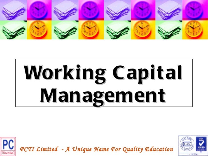 findings on the projects of working capital management A study about how swedish companies manage working capital in relation to   moreover, the findings by danske bank and ernst & young (2009) show   economic climate, as they are eager to invest in projects of expansion and thus  rather.