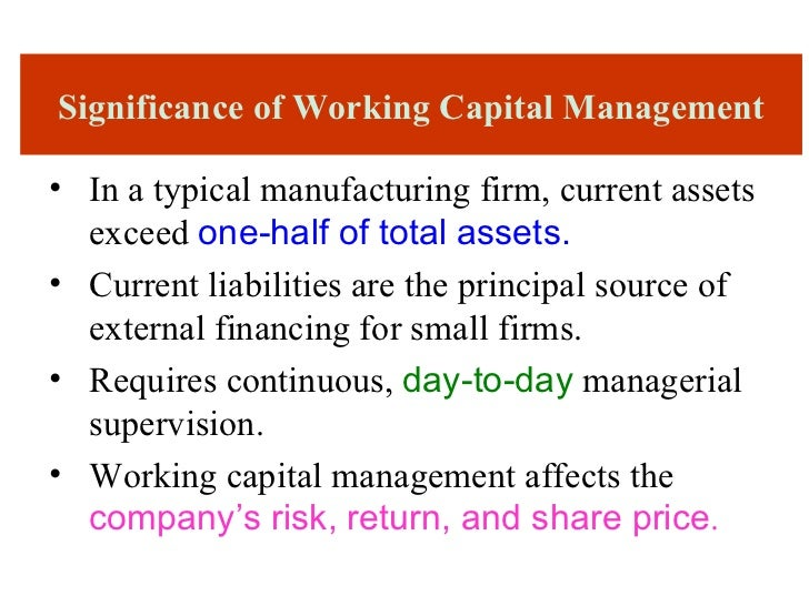 working capital management 3 In this article, we start witht he 1) introduction to working capital management,  and continue then with 2) the working capital cycle, 3).