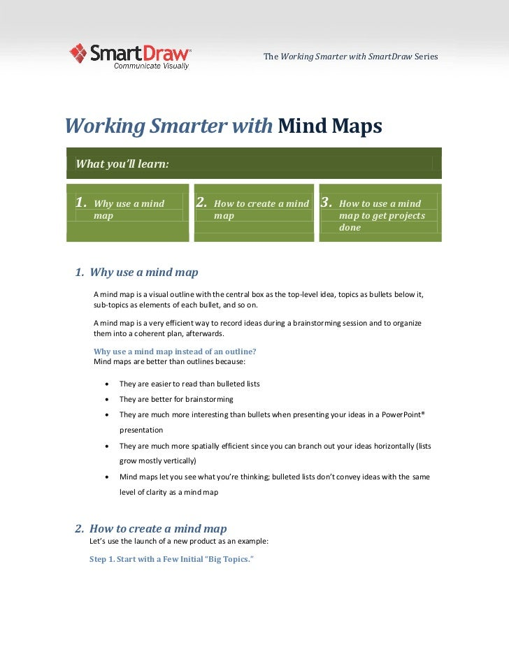 Mind maps with SmartDraw
