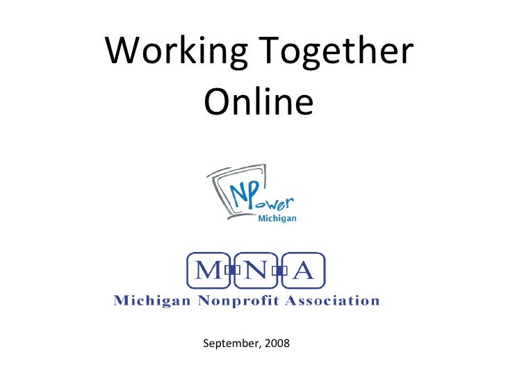Working Together Online Oct 2008