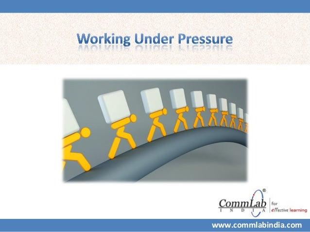 Working under-pressure