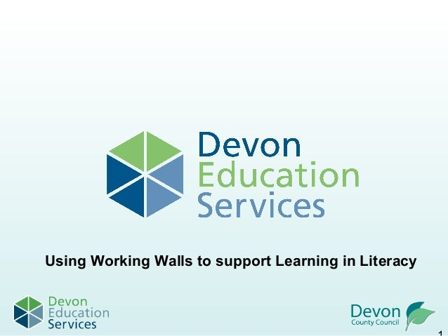 Using Working Walls to support Learning in Literacy