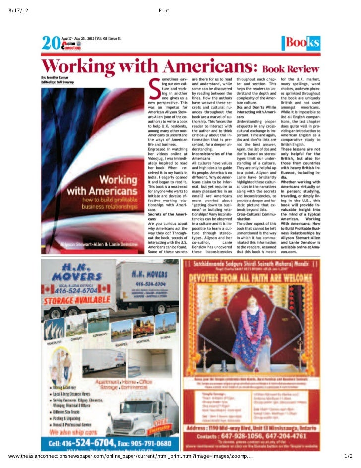 Working With Americans – A Book Review