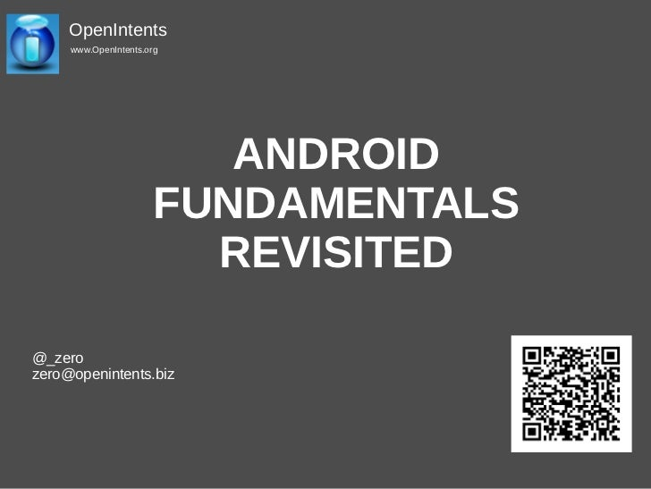 Droidcon 2011: Working with the Android source, Ronan Schwarz, Openintents