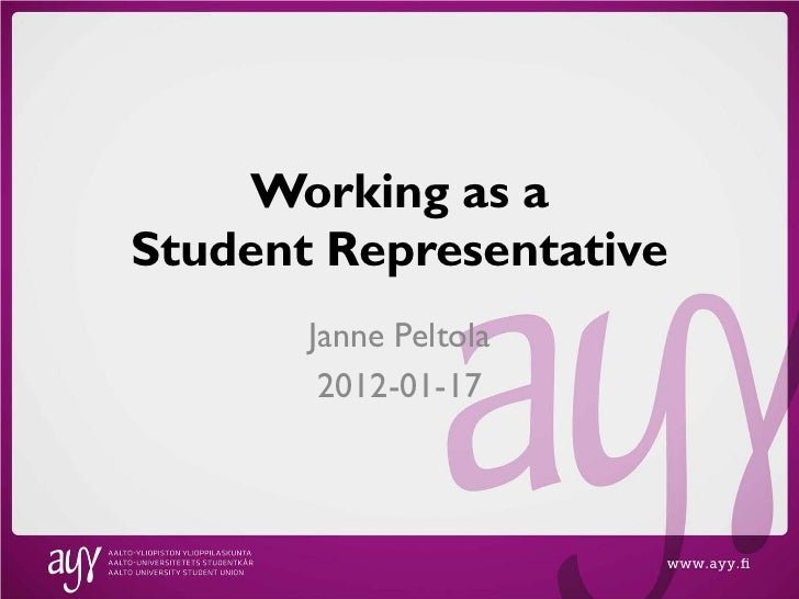 Working as student representative in Aalto University