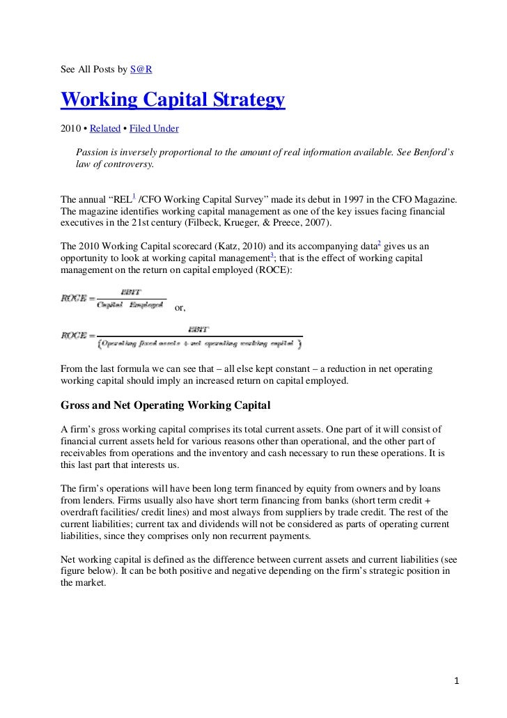 working capital strategies essays Describe the role that royalties and license fees play in the repositioning strategies employed by mnes working capital is financed m18_moff8079_04_se_c18qxd 7/1/11 2:34 pm page w-22.