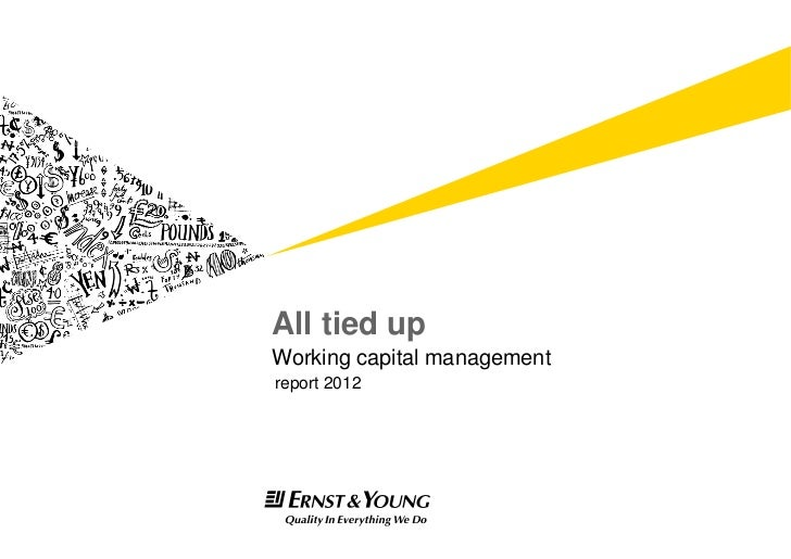 Working capital management 2012