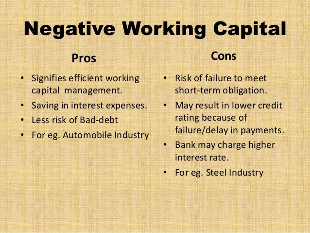 working capital management in automobile industry Impact of working capital & firm size on frim performance: an evidance   designed to check the effect of the working capital managing decisions as well as  capital structure for the automobile industries working in pakistan.