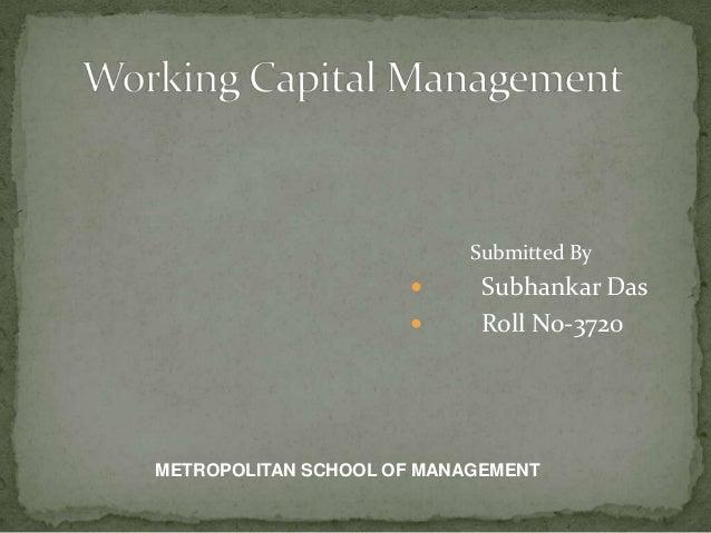 Working capital managment