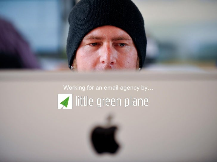 Working for an email marketing agency