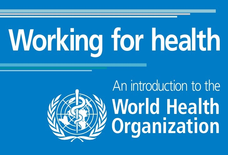 Working for health         An introduction to the