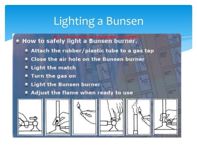 how to use the bunsen burner Using a bunsen burner bunsen burners bunsen burners are used to heat substances in the lab you should be familiar with the following parts of the burner:.