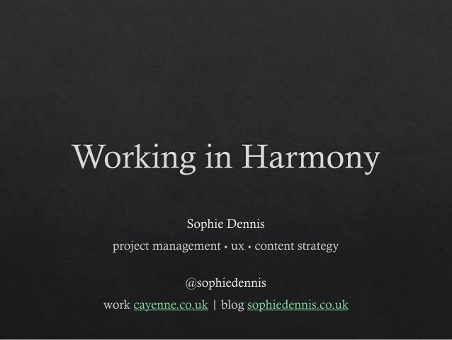 Working in harmony - Port80 2013