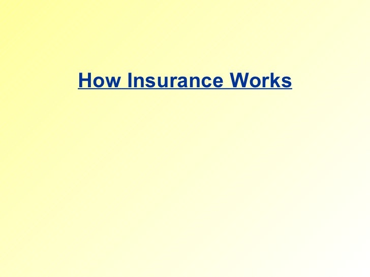 Working of insurance