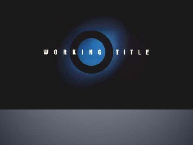    Working Title Films is a British film production    company, based in London.   Working Title Films was co-founded by...