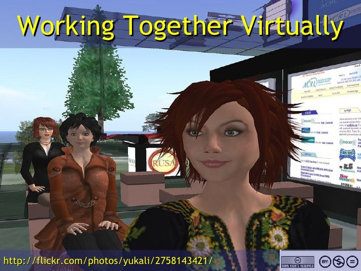 Working Together Virtually http://flickr.com/photos/yukali/2758143421/