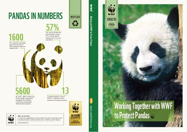 57% 5600 1600 13 CHINAwww.wwfchina.org ©YumikoKawamura WorkingwithWWFtoProtectPandas Why we are here. PANDASINNUMBERS RECY...
