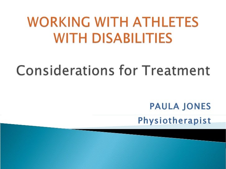 Working with athletes with disabilities   paula jones