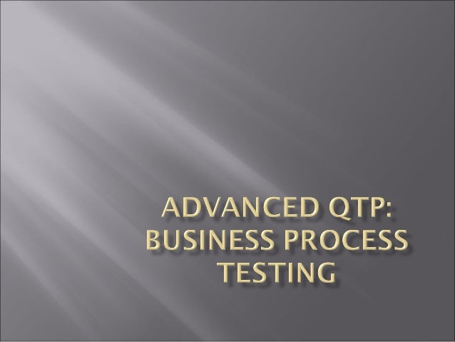 Working in Business Process Testing  Understanding Business process testing roles About working with Business process test...