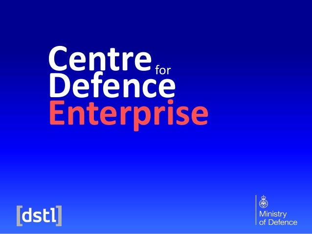 22 July 2014: working with the Centre for Defence Enterprise