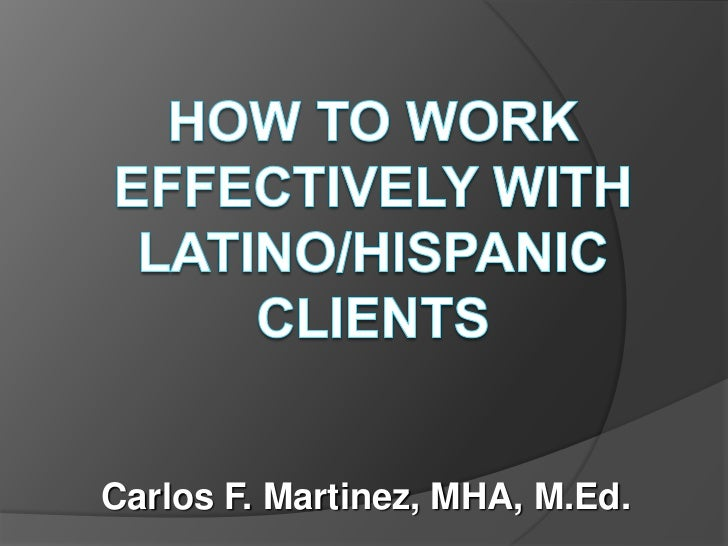 Working with hispanic families