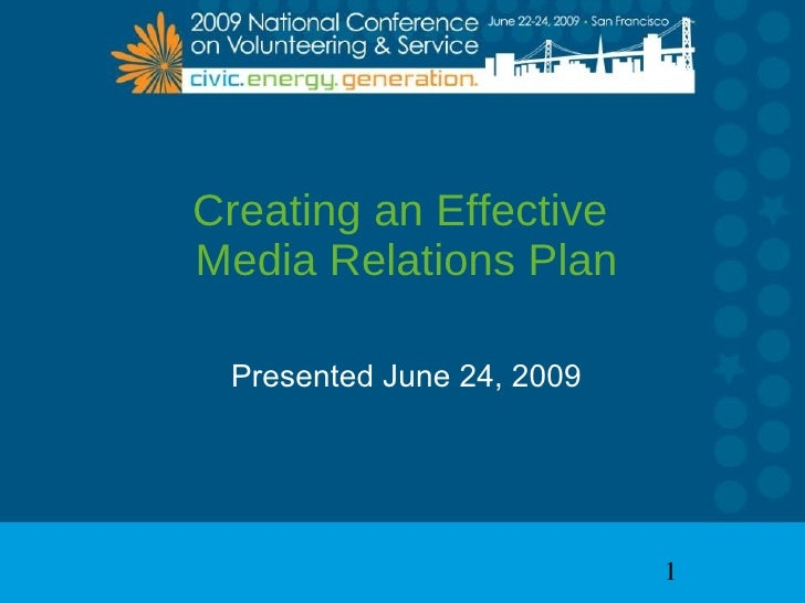 Creating An Effective Media Relations Plan
