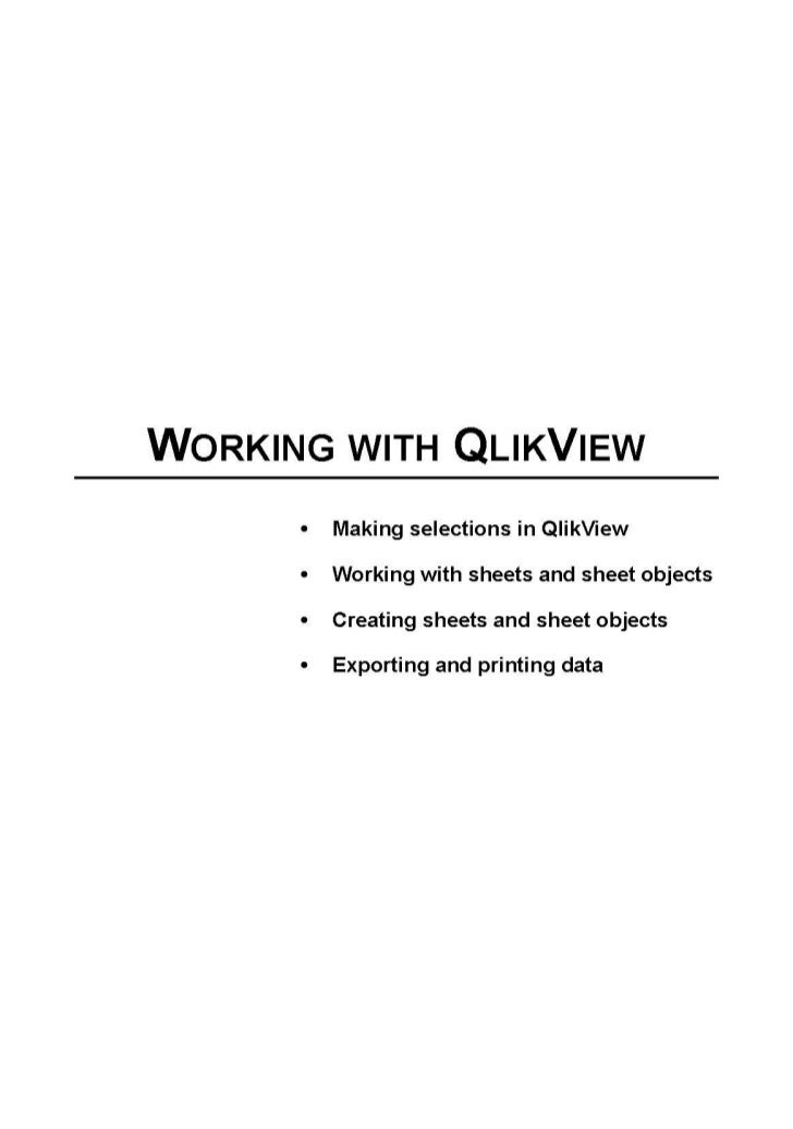 Working with qlik view part 1