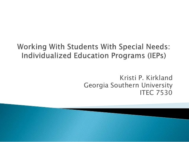 Kristi P. Kirkland Georgia Southern University ITEC 7530