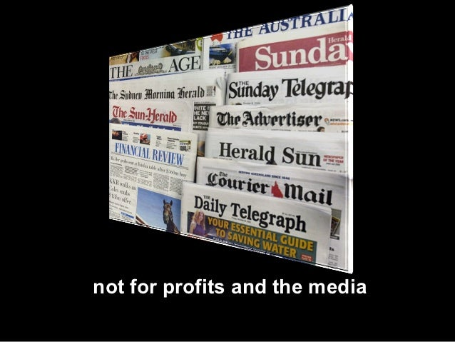 not for profits and the media