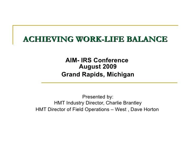 Work lifebalance