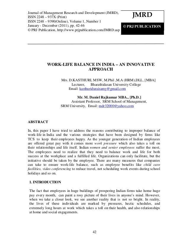 Journal of Management Research and Development (JMRD),                                                                    ...