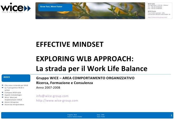 Work Life Balance Approach