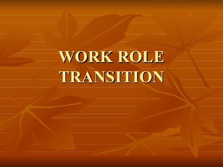 WORK ROLE TRANSITION