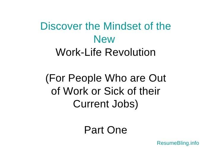 Work Life Revolution Part I: Developing a Career Planning Mindset