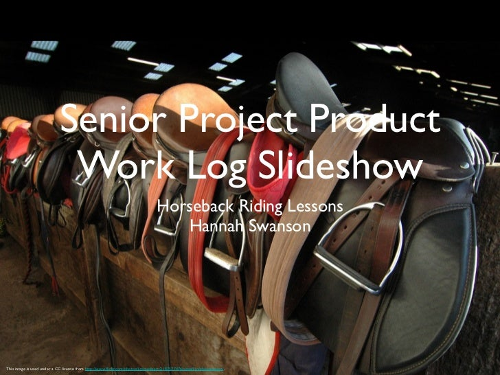 Senior Project Product                             Work Log Slideshow                                                     ...