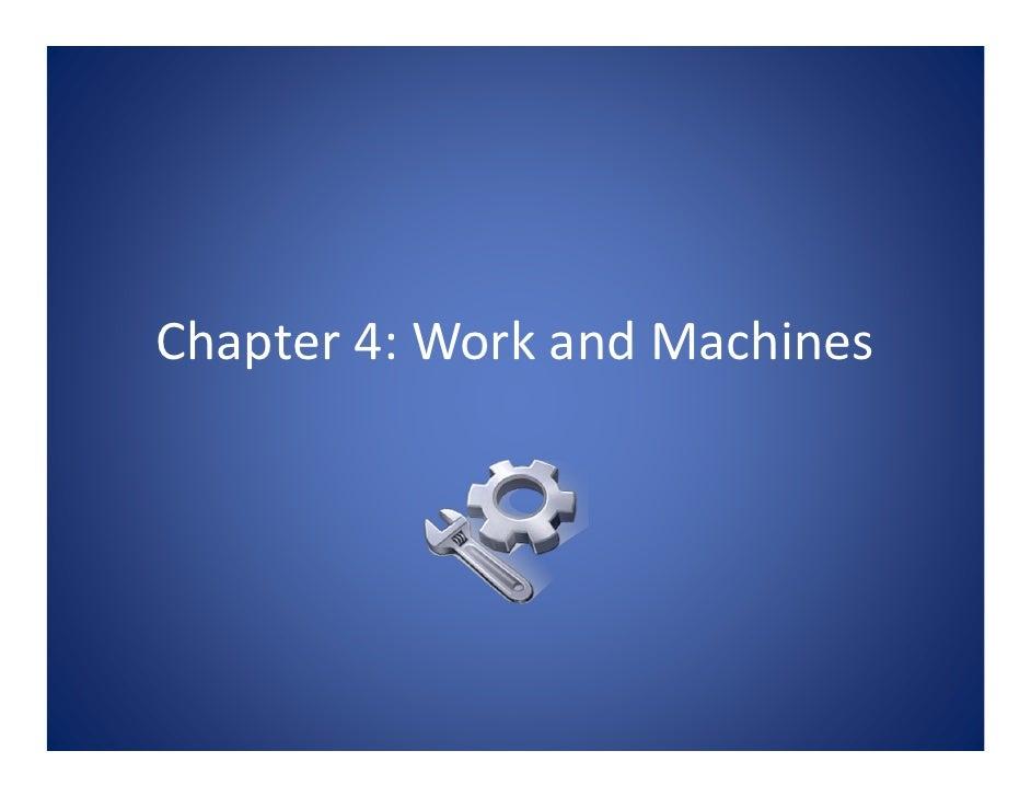 Chapter4:WorkandMachines