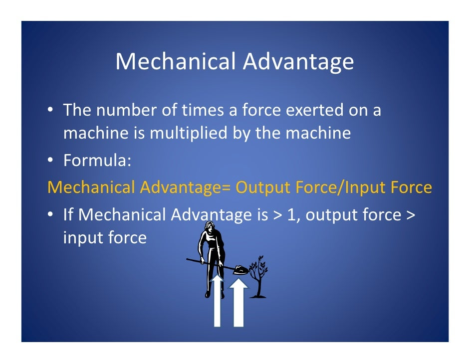 what is exerted on a machine