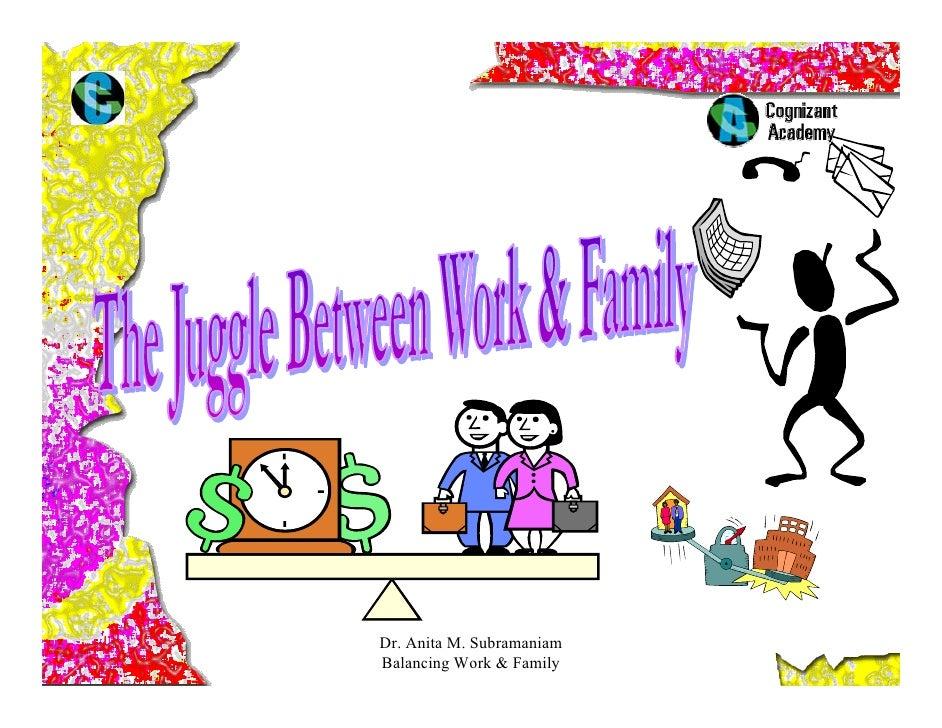 Dr. Anita M. Subramaniam Balancing Work & Family