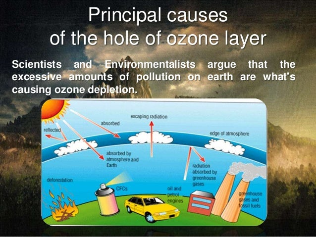 the main causes of the depletion of the ozone layer in the atmosphere The montreal protocol is an international agreement to address the causes of ozone depletion while several substances were addressed, chcs and hcfcs were the main ones that the international.