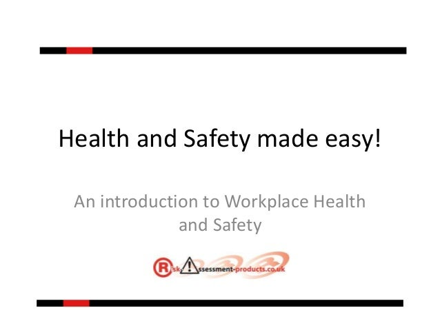 introduction to health and safety essay Introduction to safety and health - writing a report introduction in this part you discuss the background that will help to understand your topic.