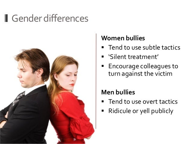 bullying gender differences Gender differences in bullying behavior girls generally display bullying behavior by lashing out verbally, by creating alliances, by leaving other girls out, by gossiping and spreading rumors, and by engaging in covert behavior.