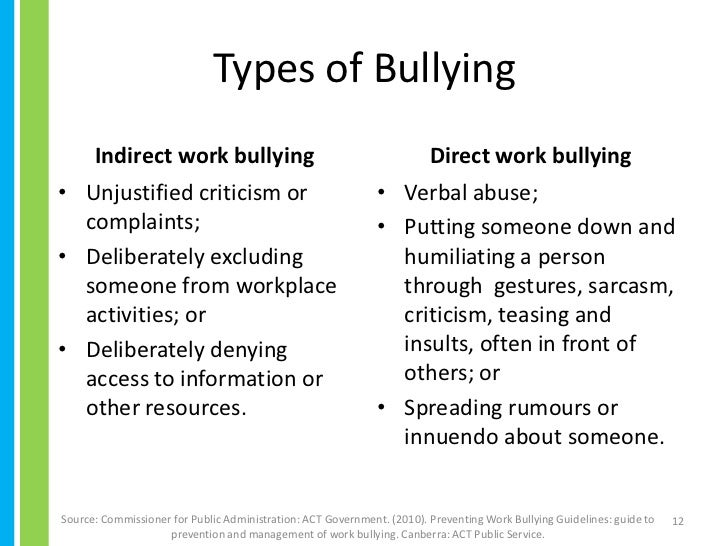 bullying at work essay