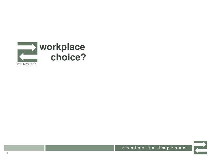 workplace<br />choice?<br />25th May 2011<br />1<br />