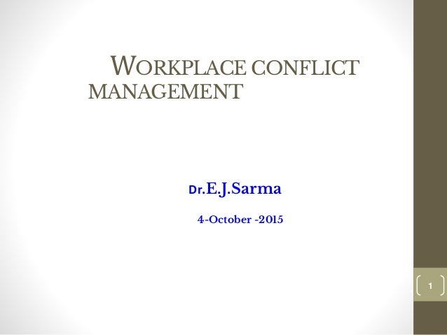 workplace conflict resolution a case Workplace mediation workplace investigations – a recent case june 17, 2015 - 9:29 am 7 ways to curb conflict in the workplace march 17, 2015.